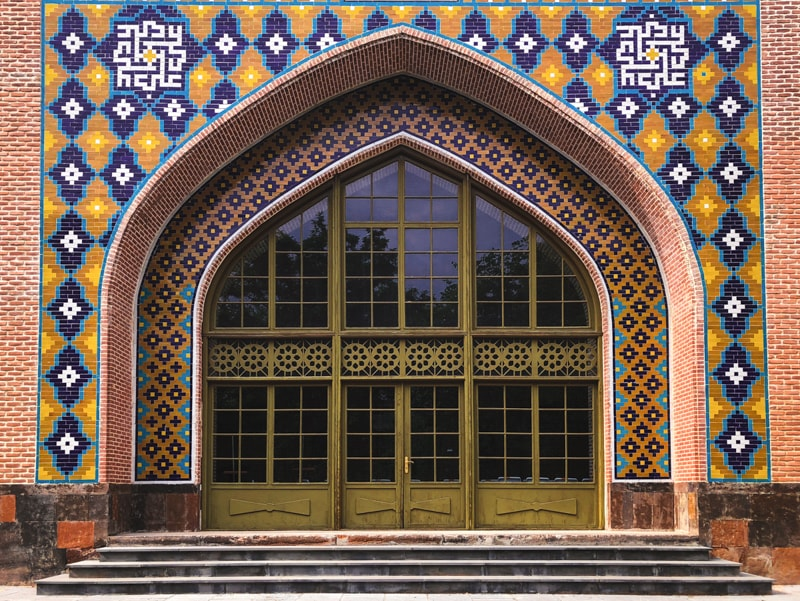 blue mosque yerevan armenia tiles
