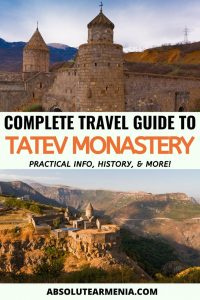 Tatev Monastery: A Complete Travel Guide to the Famous Armenian Landmark | Armenia #travel #armenia #yerevan #monastery #tatev #syunik | Armenia Trips | Places Near Yerevan | Places to Visit in Armenia | Yerevan Day Tours | Tours from Yerevan | What to do in Yerevan | What to see in Armenia | Armenia travel | Tatev Armenia | Armenia Places | Armenia Sights | Where to go Armenia | Armenia history | Armenia photography | Yerevan travel