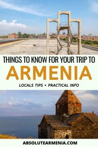 What to know before you visit Armenia | Travel to Armenia #travel #armenia #yerevan #gyumri #caucasus | Armenia Trips | Visit Yerevan | Places to Visit in Armenia | Armenia nature | Armenia Travel Guide | What to see in Armenia | Soviet Armenia | Armenia architecture | Armenia photography | Armenian food | Armenia religion | Armenia churches | Armenia wine | Armenia history | Armenia facts