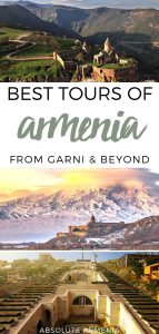 9 Armenia tours to help you make the most of your trip | Yerevan day tours #yerevan #armenia #caucasus #garni #geghard #areni #tatev Things to do in Armenia | What to do in Armenia | Travel Armenia | Visit Armenia | Garni Geghard | Monasteries | Areni winery | Noravank | Jermuk | Silk Road tourism | Places to visit in Armenia | Tours from Yerevan | Day trips from Yerevan | Things to do in Yerevan | UNESCO | Caucasus travel