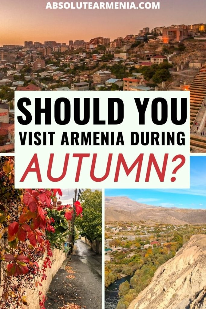 Things to do during autumn in Armenia | #armenia #caucasus #autumn #fall Are you planning a trip to Armenia in autumn? This guide will give you some inspiration of all the wonderful things to do during autumn in Armenia. | Things to do in Armenia | What to do in Armenia | Armenia fall | Armenia autumn | Places to visit in Armenia