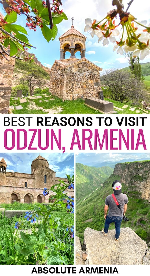 Are you planning to visit Odzun, Armenia? This guide walks you through the best things to do in Odzun, what makes it one of the best places to visit in Armenia, and how to get to Odzun from Yerevan (and Tbilisi!) | Odzun Monastery | Horomayri Monastery | Ardvi | Lori Province | Day trips from Yerevan | Visit Armenia | Travel to Armenia