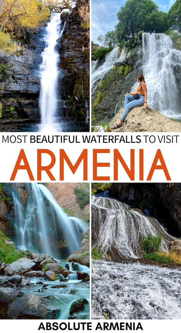 There are many fantastic waterfalls in Armenia and this guide showcases the best Armenia waterfalls, including a map detailing their location and how to visit. | Visit Armenia | Visit Caucasus waterfalls | Armenia hiking | Armenia hikes | Armenia trails | Armenian nature | Things to do in Armenia | Shaki waterfall | Trchkan waterfall | Jermuk waterfall | Dilijan