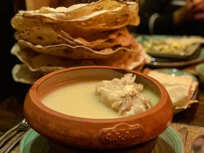 Khash with lavash - Armenia winter foods
