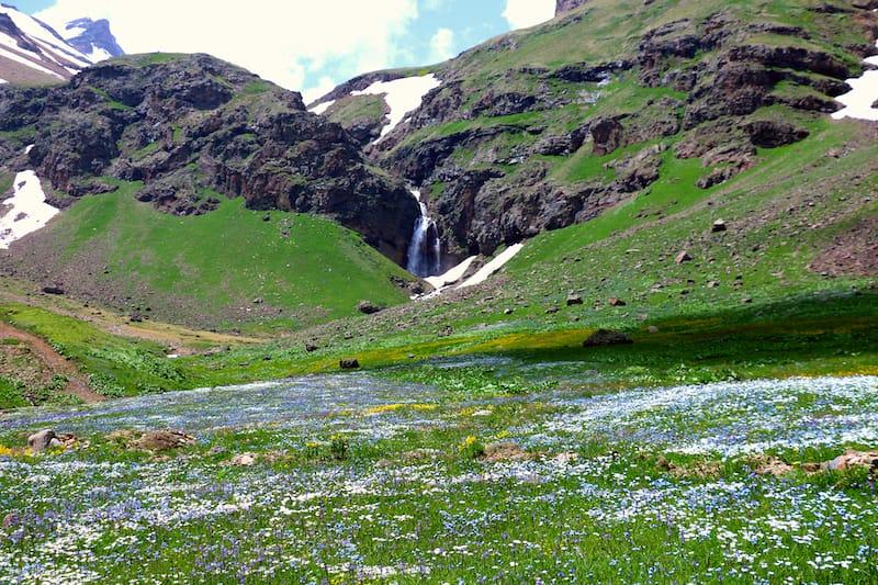 Gegharot Waterfall in Armenia