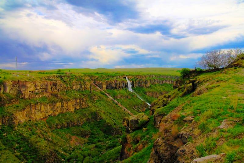 Kasakh Waterfall in Armenia