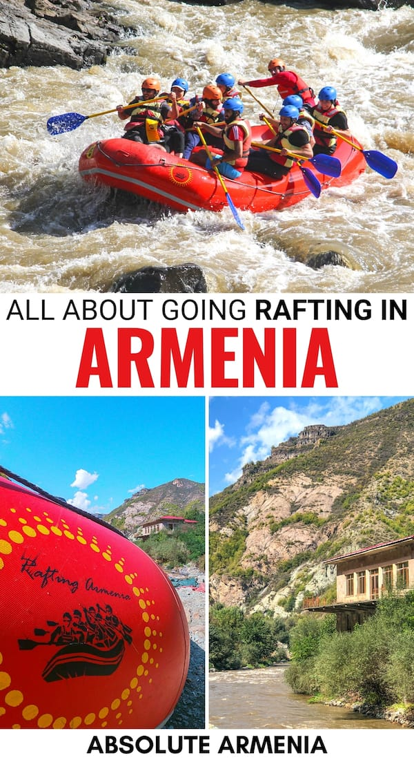Are you considering booking a trip to go rafting in Armenia? This guide showcases the best of Armenia rafting on the Debed River in Lori Province. It tells you how to book, what to expect, and much more! | Armenia travel | Things to do in Armenia | Rafting Caucasus | Armenia adventure | Armenia activities | Armenia tours | What to do in Armenia | Yerevan day trips