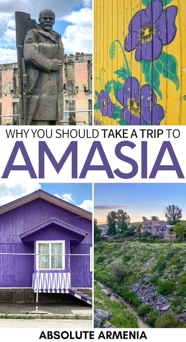 Are you spending some time in Shirak and looking for a cool place to visit? Head to colorful Amasia village and see its Lenin statue, bright houses, and more! | visit armenia | visit gyumri | things to do in Armenia | things to do in Gyumri | Armenia road trip | Armenia village | Lenin statue | USSR statue
