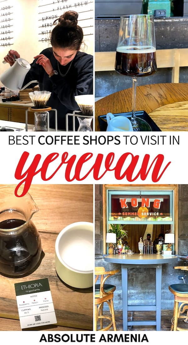 Looking for the best coffee in Yerevan? These Yerevan coffee shops have you covered! From third-wave coffee to beans you can take home, they all deserve a visit!   Yerevan cafes   Yerevan best coffee   Yerevan restaurants   Cafes in Yerevan   Coffee Yerevan   Coffee in Armenia   Best Armenia cafes   Pourover Yerevan   Third-wave coffee Yerevan   Specialty Coffee Yerevan   Nitro coffee Yerevan   Flat white Yerevan   V60 Yerevan   Chemex Yerevan