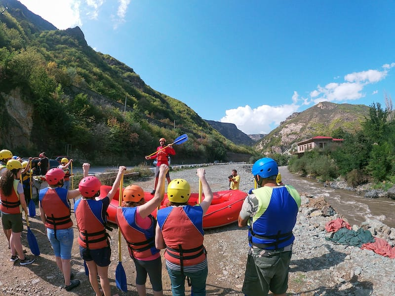Training how to Raft in Armenia