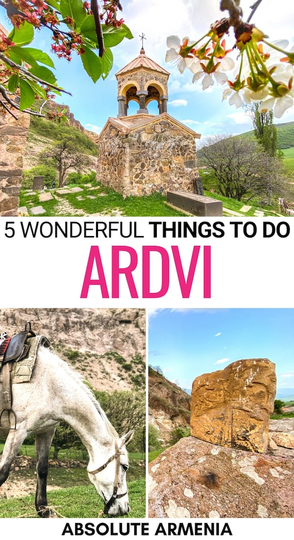 Are you looking to take a trip to Ardvi? This small Lori village is magical and you will find many things to do in Ardvi. Check out our short travel guide! | Visit Lori | Ardvi Armenia | Odzun | Surb Hovhannes Monastery in Ardvi | Places to visit in Armenia | Armenia villages | Armenia nature | Armenia in spring | History of Armenia | Armenia sightseeing | Armenia attractions | Armenia landmarks