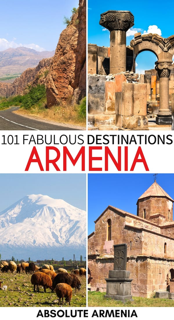 Are you looking for the best places to visit in Armenia? This guide contains our top picks - from popular attractions to lesser-known landmarks in Armenia! | Places in Armenia | Armenia sightseeing | Armenia attractions | Armenia destinations | Armenia villages | Places to visit in Yerevan | Armenia monasteries | Armenia mountains | Armenia hiking | Things to do in Armenia | Landmarks in Armenia | Armenia itinerary | Armenia bucket list | Visit Armenia | Travel Armenia | Visit Yerevan