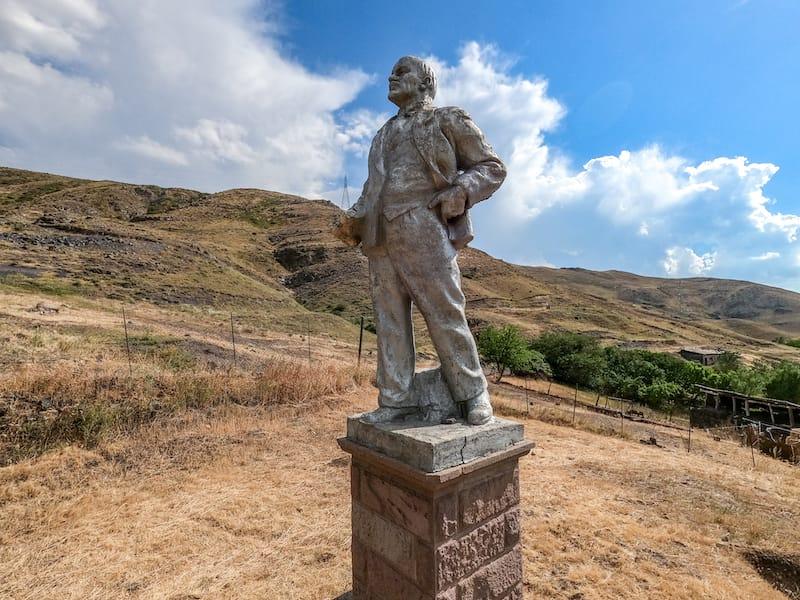 Lenin statue Arin Village Armenia-1