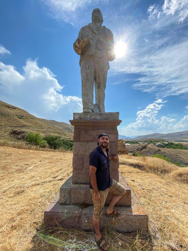 Lenin statue Arin Village Armenia-2