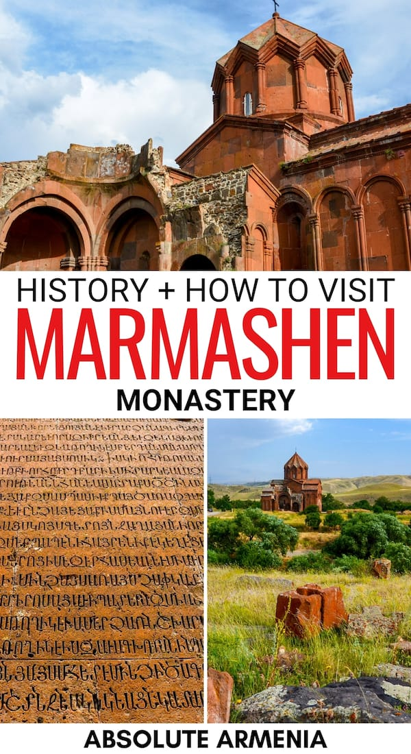 Are you looking to visit Marmashen Monastery in Shirak? This 10th-century monastery is a must for those traveling to Gyumri! Click for history + how to visit! | Gyumri day trips | Day trips from Gyumri | Monasteries in Armenia | Armenian monastery | How to visit Marmashen Monastery | Caucasus monasteries | Places to visit in Armenia