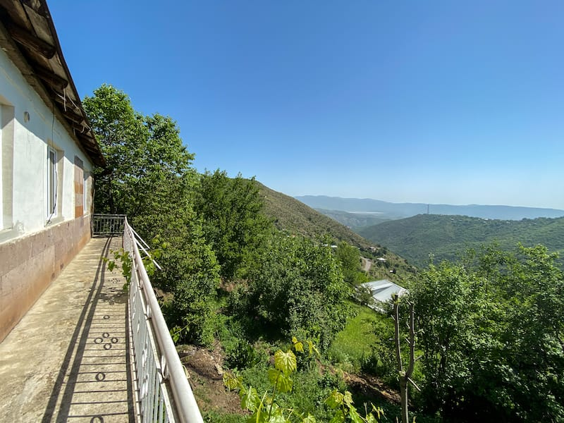 All food is local and eco-clean and I can not imagine a better place to drink your morning coffee! There is a large terrace that overlooks the beautiful, green mountains and valleys.