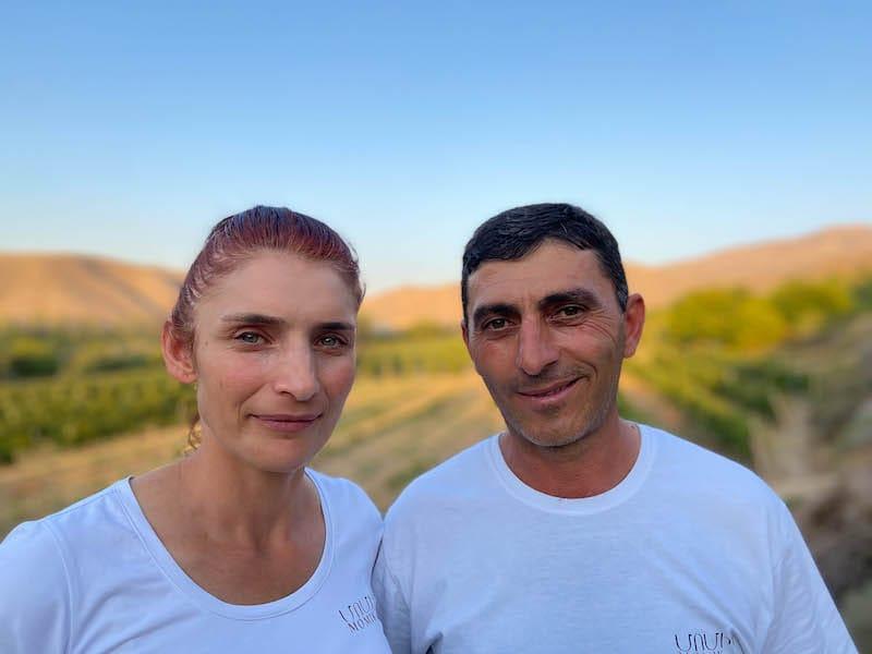 Nver and Narine at Momik Wines